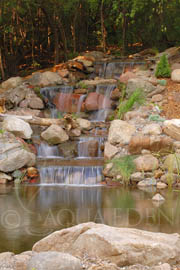 Pond and Waterfall Built in Lakeville, MN
