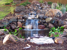 Backyard Pond Pictures With Waterfalls Natural Backyard Waterfall