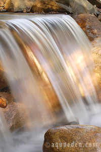 The waterfall of a stream