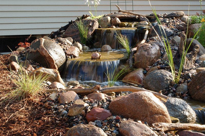 pond pictures waterfalls backyard waterfall faribault mn