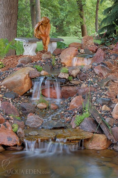 Backyard pond pictures with waterfalls 28 images 75 for Koi ponds for dummies