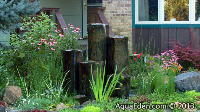 rock-fountain-front-yard-minnesota