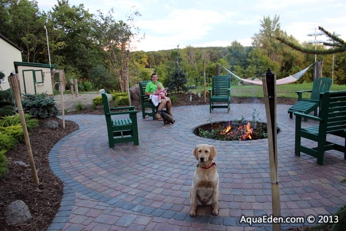 front-yard-paver-patio-family
