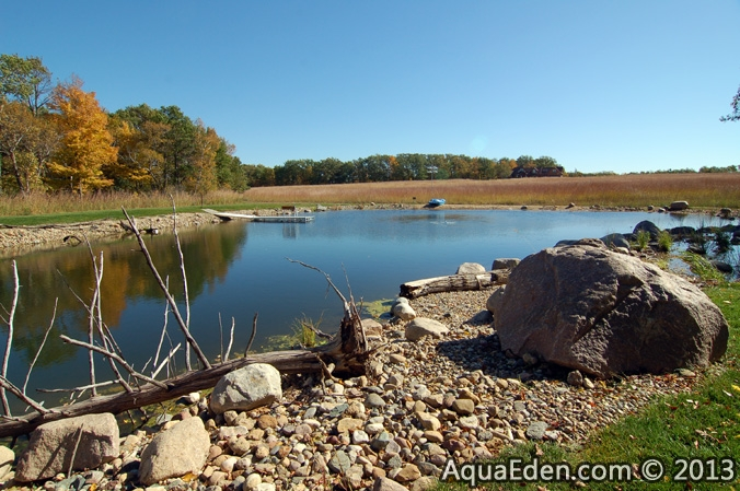 large-liner-pond-dock-sand-beach-mantorville-mn