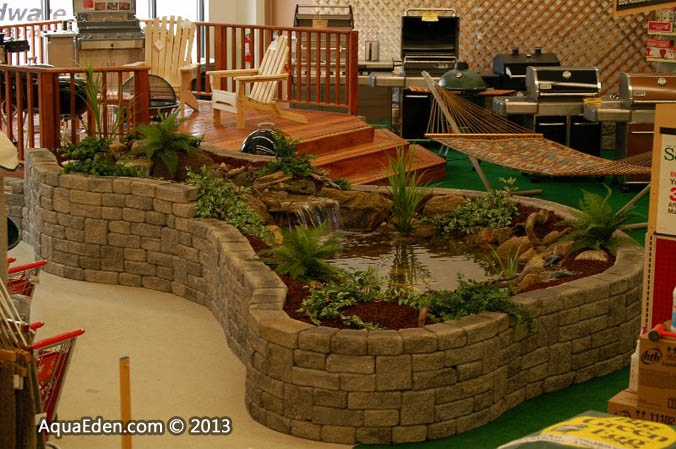 Pictures of ponds waterfalls fountains indoor water for Indoor koi pool