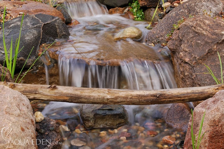 backyard-waterfall-stream-log-minnesota